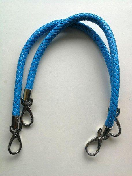 Uchwyty niebieskie krótkie z karabińczykami (1)