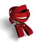 Pasek regulowany + zaczepy czerwony aksamit (1)