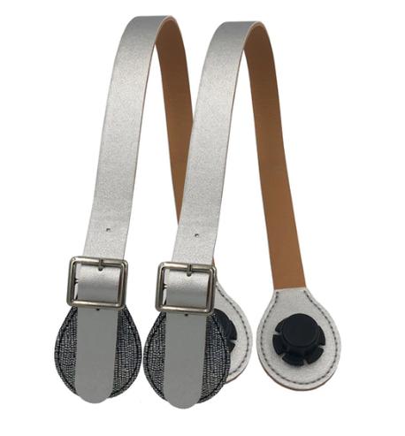 Uchwyty z klamrą 65 cm srebrne + bling łezka (1)